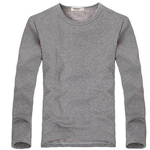 Velvet Biancheria intima termica gioventù lunga da uomo inverno s '- maniche corte T - Shirt studenti girocollo basa camicia ( colore : D , dimensioni : L. )