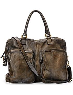 Ira del Valle, Borsa Donna, In Vera Pelle, Vintage, Borsa tracolla donna, Modello California Bag, Made In Italy