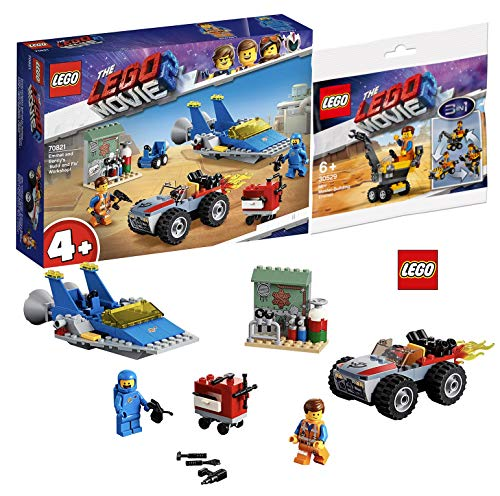 LEGO Movie 2 70821 Emmets und Bennys BAU- und Reparaturwerkstatt The Movie 2TM 30529 Mini-Baumeister Emmet Polybag