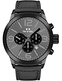 TW Steel Marc Coblen Edition Chrono mit Lederband 45 MM Grey Sunray/Black TWMC40