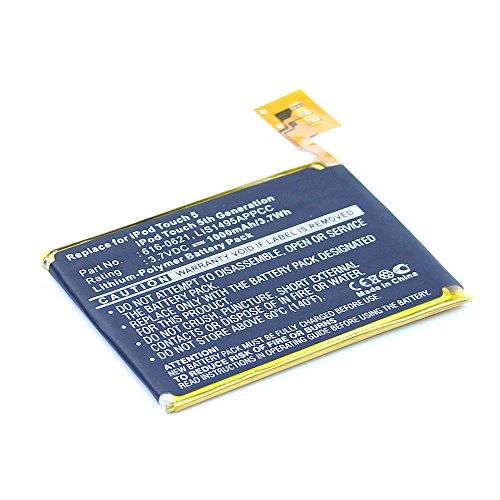 subtel® Qualitäts Akku für Apple iPod Touch 5 Gen. A1421, iPod Touch 5 Gen. A1509 (1000mAh) 616-0621,LIS1495APPCC Ersatzakku Batterie (5 Touch Ersatz-akku Ipod)