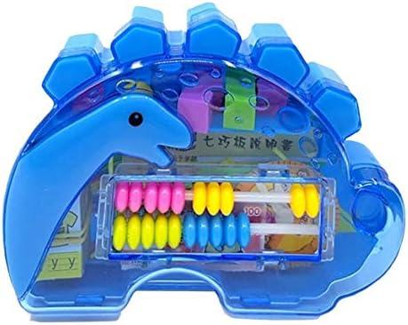 EoamIk Jeux de la Petite enfance 1 Set Set Set Dinosaure d'apprentissage Boîte Géométrie Jigsaw Puzzle Bâton De Comptage Apprentissage Horloge Puzzle Aide À l'enseigneHommes t (Bleu) | Authentique  a78600