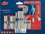 ABUS Profil-Zylinder Quads gleichschließend, Set-4-Stück, 10569