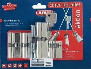 abus profil zylinder quads gleichschlie end set 4 st ck 10569 baumarkt. Black Bedroom Furniture Sets. Home Design Ideas