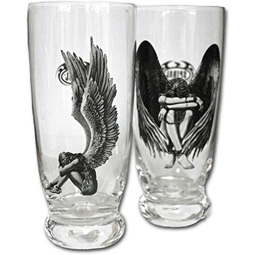 Spiral gotico Set di bicchieri vers klavter angelo-Enslaved Angel Water Glasses Set Of 2