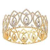 HerZii Pageant Full Circle Tiara Clear Austrian Rhinestones King / Queen Crown Costume Party Tiara 2.8''