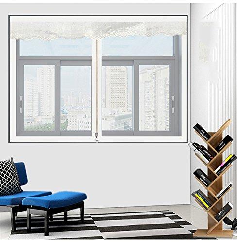 Schermo della finestra magnetico,schermo della finestra di velcro,anti-zanzara rimovibile estate] punch-libero con velcro appiccicoso-bianca 150x130cm(59x51inch)