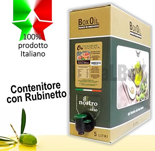 5 L Extra Natives Olivenöl 100% Italien - Behälter mit Zapfhahn