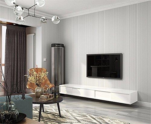 ADLFJGL Moderne Einfach Aus Tapete Reines Pigment Vertikalen Gut Fringe Wohnzimmer  Schlafzimmer 0.53M×10M Wallpaper   Studie Hellgrau Wallpaper