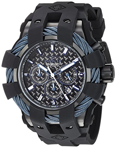 Invicta Men's 'Bolt' Quartz Stainless Steel and Silicone Casual Watch, Color:Black (Model: 23868) image