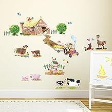 Elegant Decowall DW 1407 Bauernhof Kuh Pferd Nutztiere Tiere Wandtattoo Wandsticker  Wandaufkleber Wanddeko Für Wohnzimmer Schlafzimmer