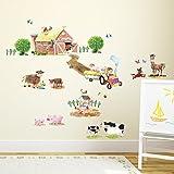 Decowall DW-1407 Club de ponies y animales de granja Pegatinas de pared