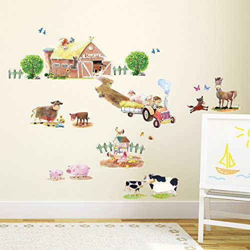 decowall-dw-1407-poney-club-animaux-de-ferme-autocollants-muraux-mural-stickers-chambre-enfants-bebe