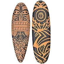 interlif estyle 2 Unidades Decoración Tabla de Surf Tribal maorí 60 cm en Tiki Hawaii Style
