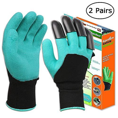 Lot de 2 paires gants de jardinage taille 10 fleurs jardin plantes