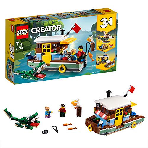 LEGO 31093 Creator 3-in-1 Riverside Houseboat Building Kit, Colourful Best Price and Cheapest
