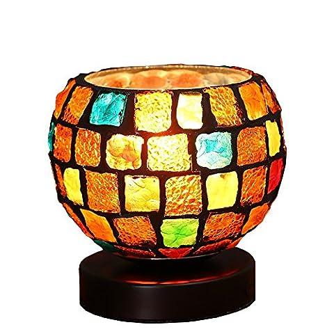 LZDHY Lumière de nuit moderne en verre coloré Petite lampe de table Hot Romantic Birthday Christmas Gift Bedroom Lit Room Study Desk Lights