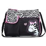 Baby Bucket Diaper Changing Bag - Zebra Pattern - Multi Color