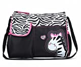 #10: Baby Bucket Diaper Changing Bag - Zebra Pattern - Multi Color
