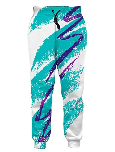 faschingskostuem simpsons Leapparel Unisex 80er Jazz Solo Cup Grafik Design Hipster Stylish Jogging Hosen Sweatpants M