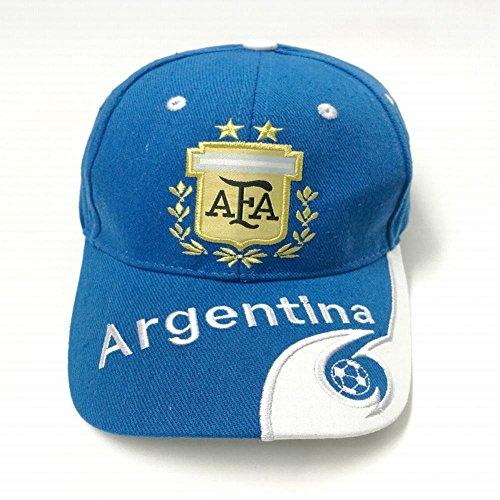 Argentinien Cap (WEI Nationalmannschaft Fans Bestickt Baseball Caps Caps Visier,Argentinien,Einheitsgröße)