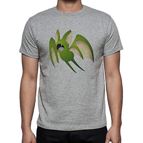 Pokemon Zubat Bat Poisonl Green Big Herren T-Shirt Grau