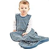 Woolino Kleinkind Schlafsack - 4-Jahreszeiten-Merino-Wolle-tragbare Decke 2-4 Jahre Navy-blau