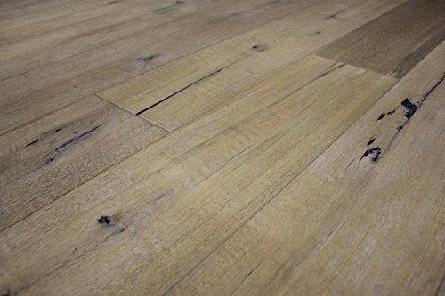 Kährs Parkett Artisan Collection Landhausdiele Eiche Linen, Handgehobelt, weiß/grau geölt, 15 x 190 x 1900 mm (2, 17 M²/ Paket)