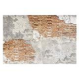 Tapete Betonoptik - Shabby Backstein Wand - Vlies Fototapete Breit, Größe HxB: 255cm x 384cm