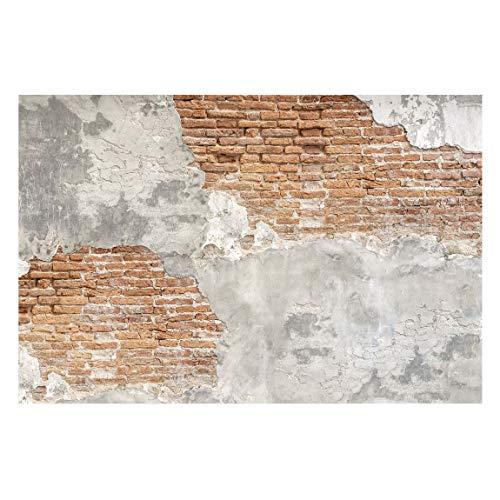 Vliestapete Shabby Backstein Wand, HxB: 320cm x 480cm -