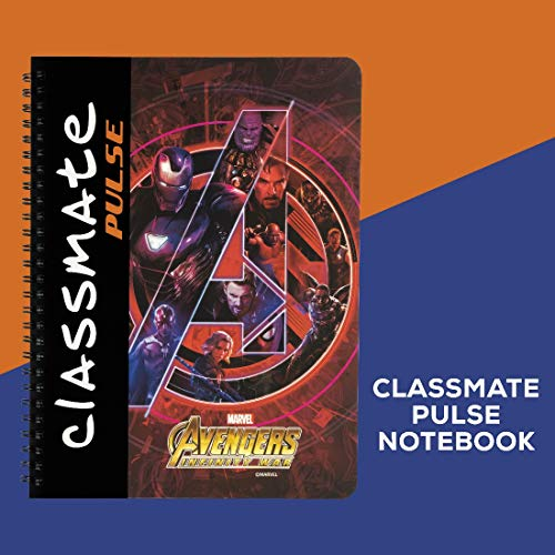 Classmate Pulse Spiral Notebook - 240 mm x 180 mm, Soft Cover, 180 Pages, Unruled Image 7