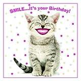 Katzen Karte - Smile! - Geburtstagskarte