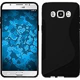Funda de silicona para Samsung Galaxy J5 (2016) J510 - S-Style negro - Cover PhoneNatic Cubierta + protector de pantalla