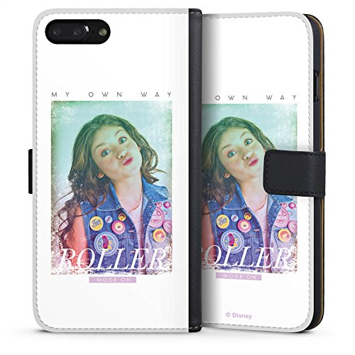 Apple iPhone 7 Plus Silikon Hülle Case Schutzhülle Soy Luna My own Way Disney Sideflip Tasche schwarz