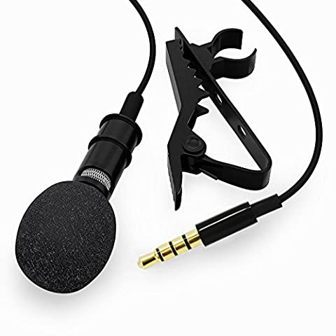Omnidirectionnel Lavalier Microphone Lapel Clip-on Mini Mic pour Apple iOS iPhone Samsung Android Smartphones