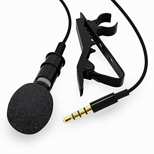 BeiLan Kondensator-Mikrofone Lavalier Revers Clip-on Omnidirektional Mikrofone Professionel mit 2m Kabel für alle die meisten Android- oder iOS-Smartphones und Computeraufnahme