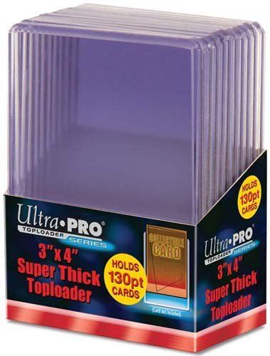 "Topload 3 x 4"" (Super Thick Cards 130pt) (10 ct.)"