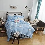 LUYR.R Baumwolle Normallack Wolken 4 Sätze 3D Karikatur Bettwäsche Bettwäsche Bettwäsche 1 Bettbezug 1 Flat Sheet 2 Shams, Queen