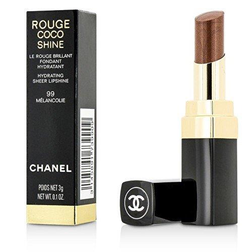 Chanel Rouge Coco Shine - Barra de labios, color 99-mélancolie, 3 gr