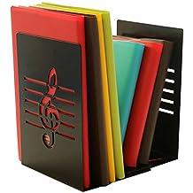 Un par de moda creativa Música Nota atril para libro de sólido y de metal sujetalibros para niños amante de la música casa oficina decoración