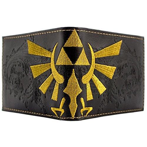 Nintendo Zelda Geprägte Triforce Schwarz Portemonnaie Geldbörse (Bekleidung Geprägte)