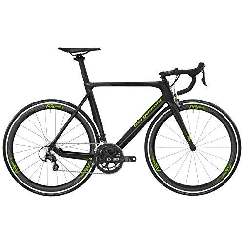 Bergamont Prime RS Carbon Rennrad schwarz/grün 2017: Größe: 50cm (162-168cm)
