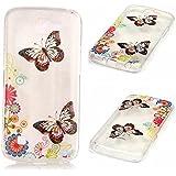 Funda Case KSHOP Para LG K4 Case Cover Carcasa Suave Flexible TPU Silicona gel Forro Delgada prevención de caídas - Jardín de la mariposa