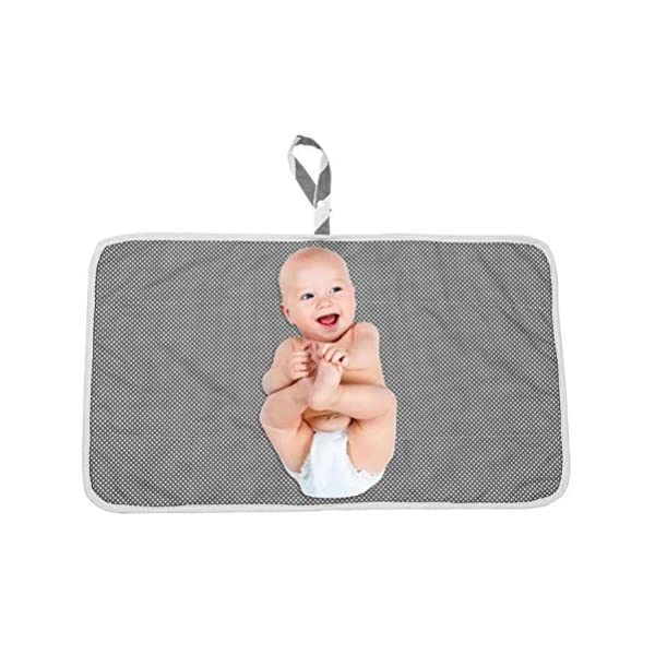 Knowooh Baby changing mat Foldable changing mat Soft reversible mat for changing tables with removable terry cloth cover, suitable for washing machines, white Knowooh The changing pad is made of high quality cotton and TPU film, which does not cause skin allergies. This portable and lightweight changing table pillow can be folded into a compact size and stored in the free storage bag. With full body protection and a pleasant diaper change, your baby will feel comfortable on this large changing tablecloth. 6