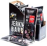 (Packung 10 x 50g) The Meat Makers Cayenne Pfeffer Rindfleisch Bar mit gerösteten Mandeln und Honig - angereichert mit Molkenprotein - eine Behandlung für Jerky und Biltong Liebhaber
