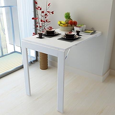 HYDT Klapptisch Einfache Wand Gegen Die Tabelle Kreative Wand Schreibtisch Computer Schreibtisch Büro Schreibtisch Kann Fotos Größe Farbe Optional ( Farbe : Weiß , größe : 60*90cm (Büro Platz Klapptisch)