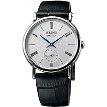 Seiko Herren-Armbanduhr Analog Quarz Leder SRK035P1