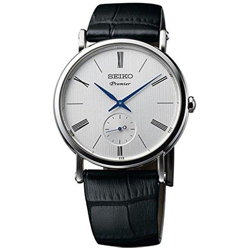 Seiko Herren Analog Quarz Uhr mit Leder Armband SRK035P1