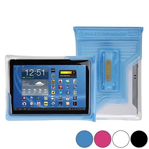 DiCAPac WP-T20 Universelle, wasserdichte Hülle für Panasonic Toughpad JT-B1 Tablets in Blau (Doppel-Klettverschluss, IPX8-Zertifizierung zum Schutz vor Wasser bis 5m Tiefe; integrierter Airbag treibt auf dem Wasser und schützt das Gerät; extraklare Polycarbonat-Fotolinse; integrierte Handschlaufe)