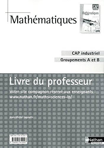 Mathématiques - CAP industriel Groupement A et B